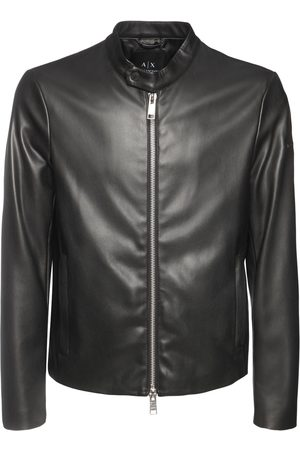 Armani Faux Leather Biker Jacket