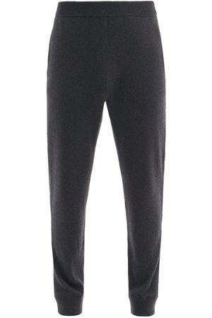 The Row Olivier Cashmere-jersey Track Pants - Mens - Dark Grey
