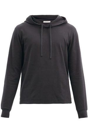 The Row Mendo Cotton-jersey Hooded Sweatshirt - Mens - Dark Grey