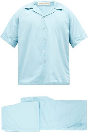 Cleverly Laundry Superfine Cotton-sateen Pyjama Set - Mens - Light