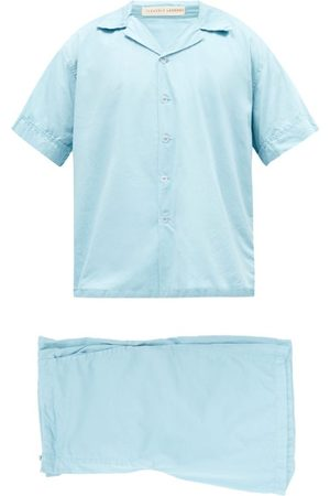 Cleverly Laundry Superfine-cotton Sateen Pyjamas - Mens - Light