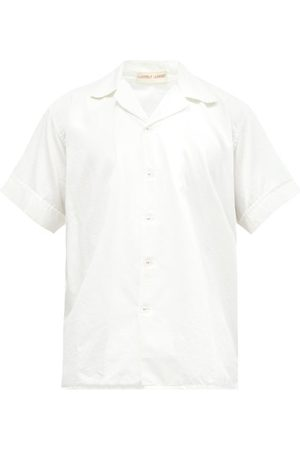 Cleverly Laundry Superfine-cotton Sateen Pyjama Shirt - Mens