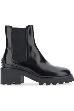 Tod's Women's Lug-Sole Patent Leather Chelsea Boots - - Size 38.5 (8.5)