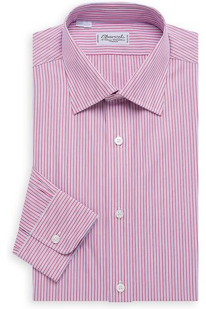 Charvet Men's Bold Contrast Mini Pinstripe Shirt - - Size 17 L