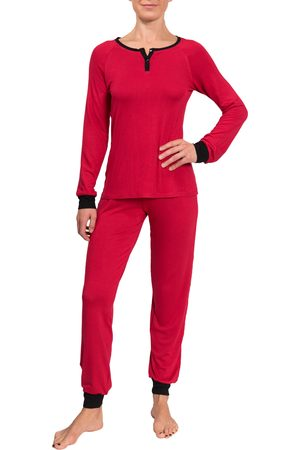 Everyday Ritual Women's Henley Jogger Pajamas
