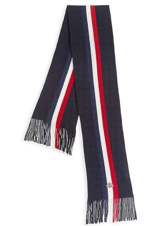 Moncler Men's Sciarpa Wool Scarf - Navy