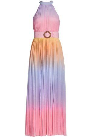 ROCOCO SAND Women's Emi Ombre Pleated Halter Dress