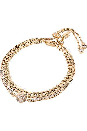 Ettika Crystal & Chain Bracelet Set in Metallic .
