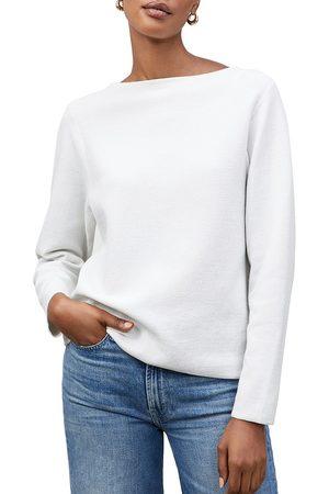 Lafayette 148 New York Women's Matte Crepe Bateau Neck Pullover - - Size Large