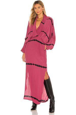 SWF Plunge Dress in Pink, Black.