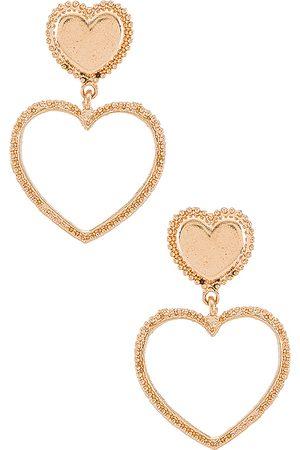 petit moments Corazon Earrings in Metallic .