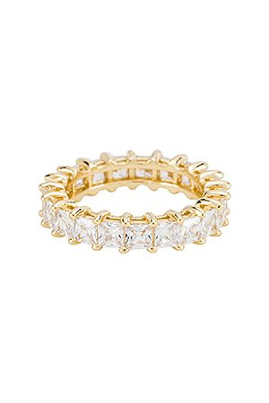 The M Jewelers The Princess Cut Eternity Band in Metallic .