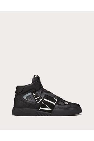 VALENTINO GARAVANI Men Sneakers - Mid-top Calfskin Vl7n Sneaker With Bands Man 100% Pelle Di Vitello - Bos Taurus 39