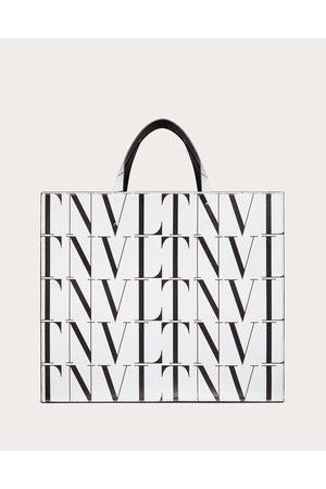 VALENTINO GARAVANI Men Bags - Vltn Times Leather Tote Bag Man Optic / 100% Pelle Bovina - Bos Taurus OneSize