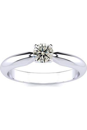 SuperJeweler 1/3 Carat Diamond Solitaire Engagement Ring in 1.4 Karat ™ (