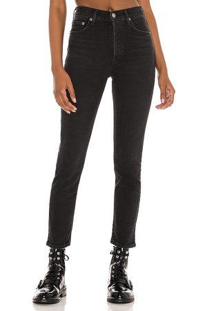 AGOLDE Nico High Rise Slim in Black.