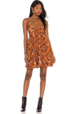 Free People X REVOLVE Kaley Mini Dress in Orange.