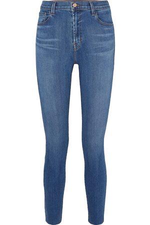 J Brand Woman Leenah High-rise Skinny Jeans Mid Denim Size 24