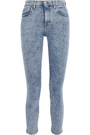 IRO Woman Oilie Acid-wash High-rise Skinny Jeans Light Denim Size 24