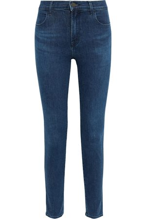 J Brand Woman Maria High-rise Skinny Jeans Midnight Size 23