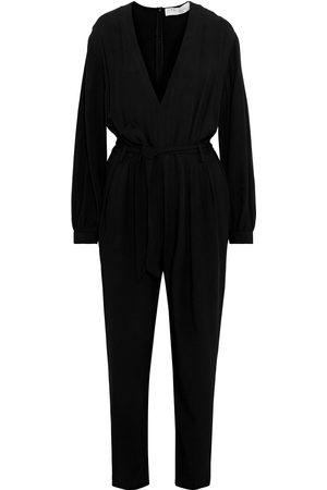 IRO Woman Julliaca Belted Pleated Crepe Jumpsuit Size 34