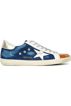 Golden Goose Superstar distressed panelled sneakers