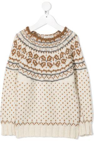 THE NEW SOCIETY Boys Sweaters - Fair isle wool jumper - Neutrals