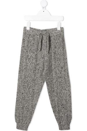 THE NEW SOCIETY Girls Sports Pants - Liam knit tracksuit bottoms - Grey
