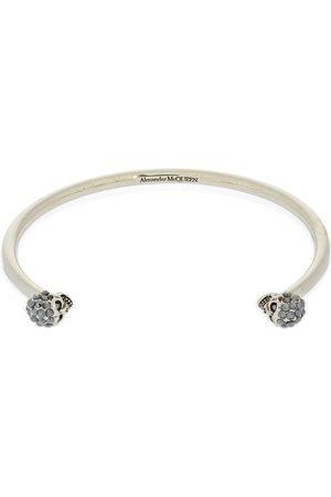 Alexander McQueen Double Skull Thin Cuff Bracelet