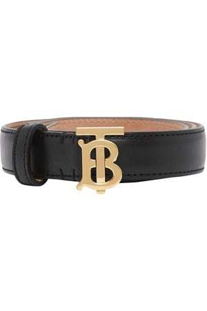 Burberry 2cm Tb Leather Belt
