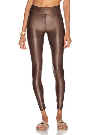 Koral Lustrous High Rise Infinity Legging in Metallic Bronze