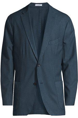 Boglioli Men's Gingham Virgin Wool Sportcoat - - Size 50 (40) R