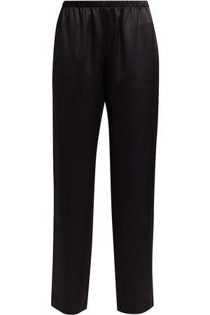 Adriana Iglesias Women's Alessia Stretch-Silk Pants - - Size 36 (4)