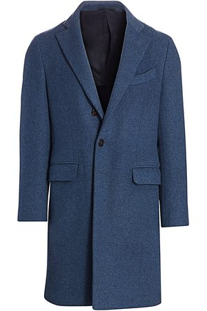 Eidos Men's Regular-Fit Single-Breasted Wool & Cashmere Coat - - Size 56 (46) R
