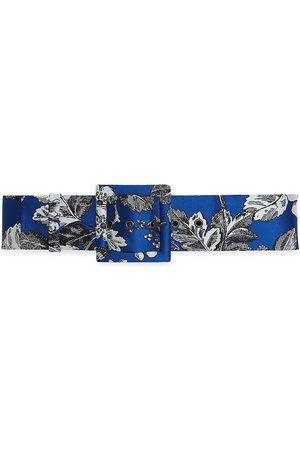 Carolina Herrera Women's Large Square Buckle Belt - - Size Medium