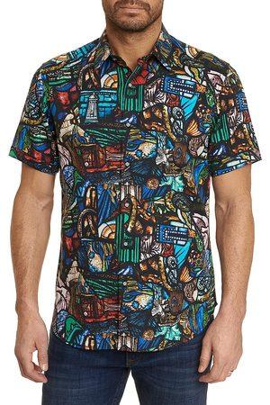 Robert Graham Men Short sleeves - Men's The Basilica Classic-Fit Printed Sport Shirt - Size Large