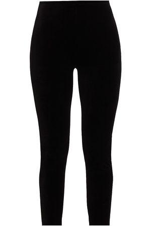 Joan Vass Women's Velour Leggings - - Size 0 (4-6)