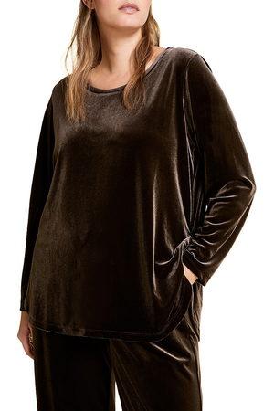 Persona by Marina Rinaldi Women's Marina Sport Ohio Velvet Sweatshirt - - Size XL