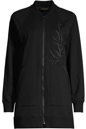 Kobi Halperin Women's Mia Bamboo-Embroidered Bomber Jacket - - Size XL