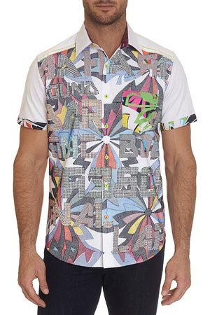 Robert Graham Men's Limited Edition Juneau Short-Sleeve Sport Shirt - Size XXL