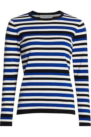 Joan Vass Women's Petite Stripe Sweater - - Size 0P (Petite XS)