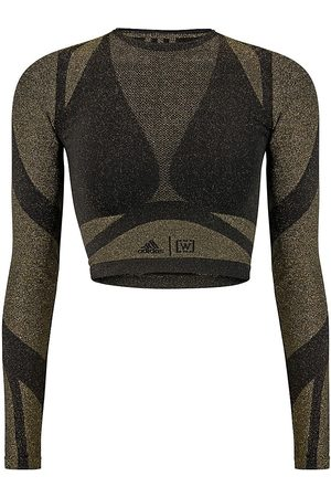 Wolford Women's x Adidas Studio Motion Long-Sleeve Lurex Top - - Size Small