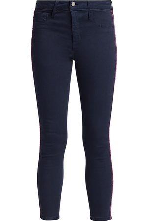 L'Agence Women's Margot High-Rise Velvet Tape Skinny Jeans - - Size 29 (6-8)