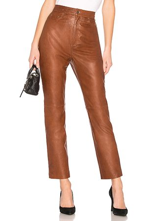 LPA Leather Straight Leg Pants in .