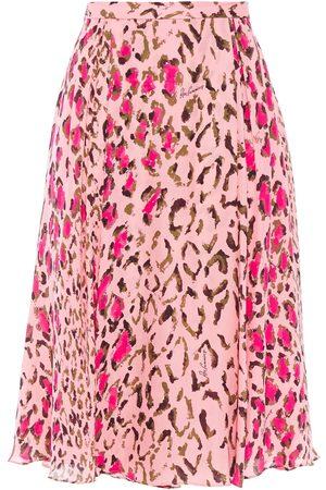Carolina Herrera Woman + Rose Cumming Gathered Leopard-print Silk-chiffon Skirt Baby Size 2