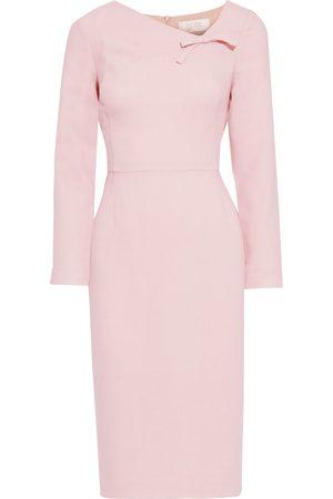 GOAT Woman Justine Bow-embellished Wool-crepe Midi Dress Blush Size 10