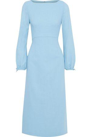 GOAT Woman Honor Wool-crepe Midi Dress Sky Size 10