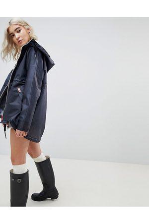 Hunter Womens original raincoat-Navy