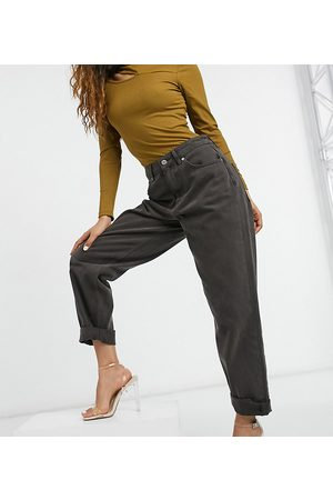 ASOS ASOS DESIGN Petite high rise 'slouchy' mom jeans in chocolate