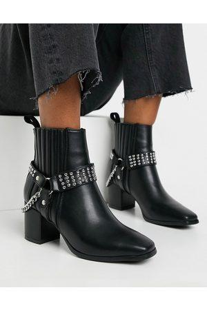 Lamoda Square toe harness boots in